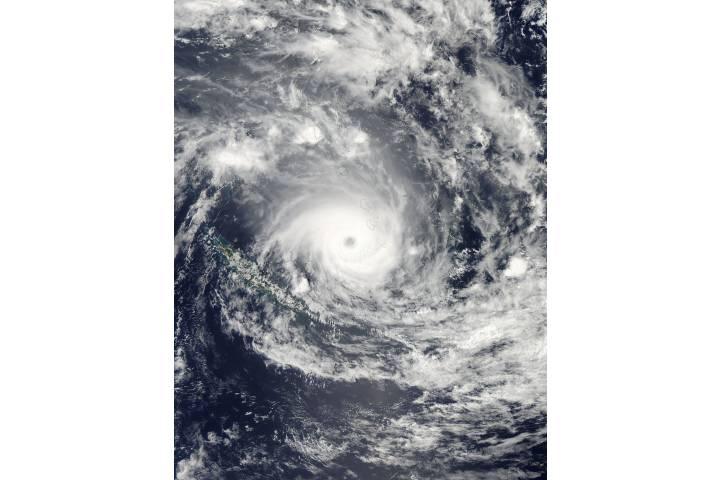 Tropical Cyclone Jasmine (10P) over Vanuatu and New Caledonia - selected image