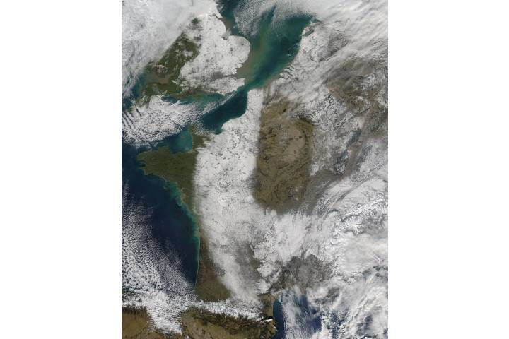 Snow in western Europe - selected image
