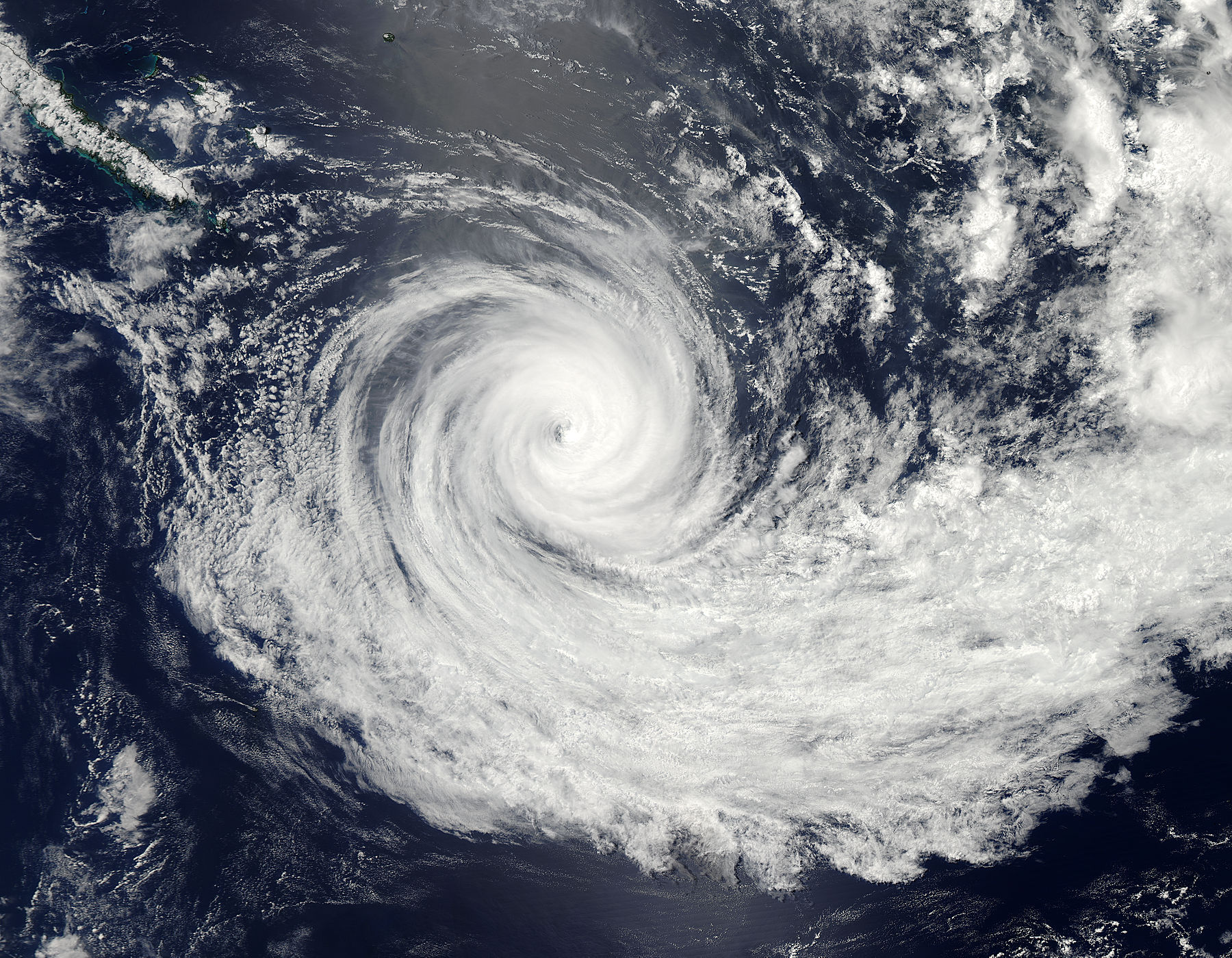 Tropical Cyclone Jasmine (10P) in the southern Pacific Ocean - related image preview