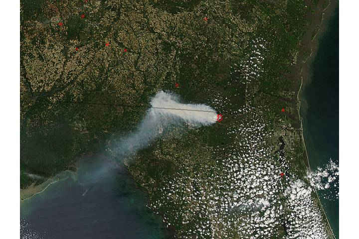 County Line Fire, northern Florida - selected image
