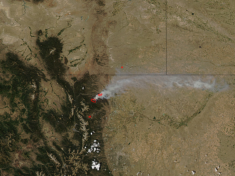 High Park Fire, Colorado (afternoon overpass) - related image preview