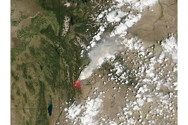 Fontenelle Fire, Wyoming - selected image