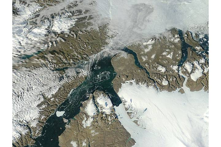Iceberg from Petermann Glacier, northern Greenland - selected image