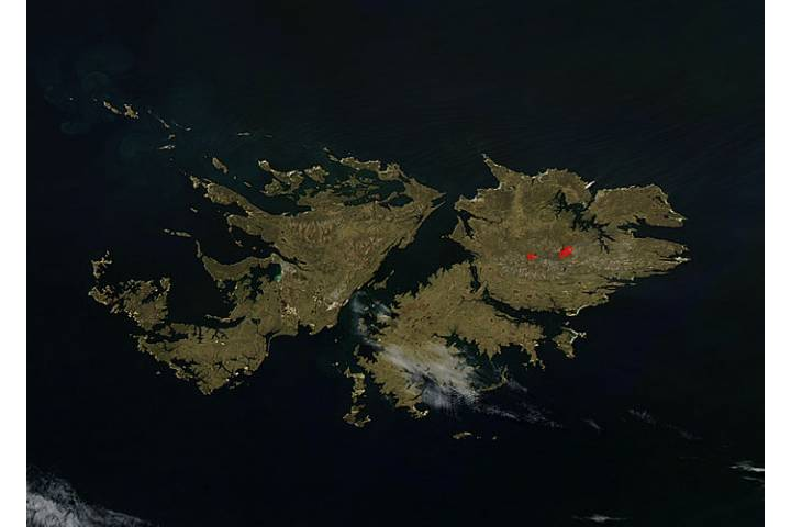 Fires in the Falkland Islands - selected image