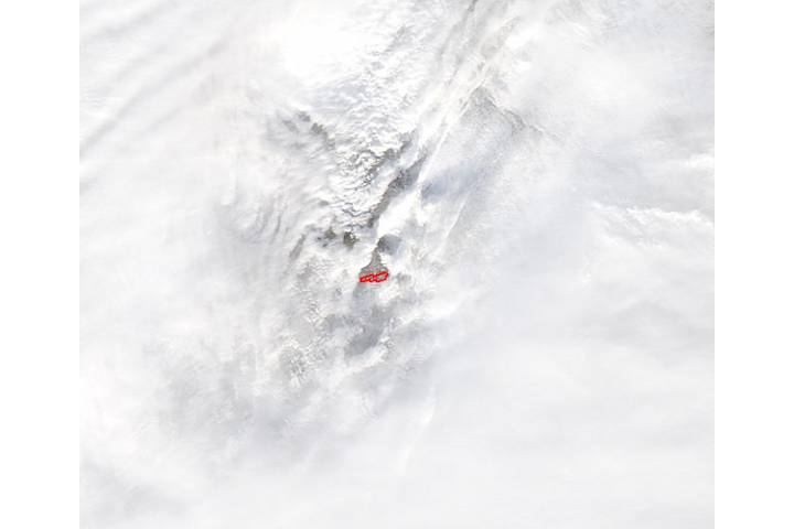 Eruption at Plosky Tolbachik, Kamchatka Peninsula, eastern Russia - selected image
