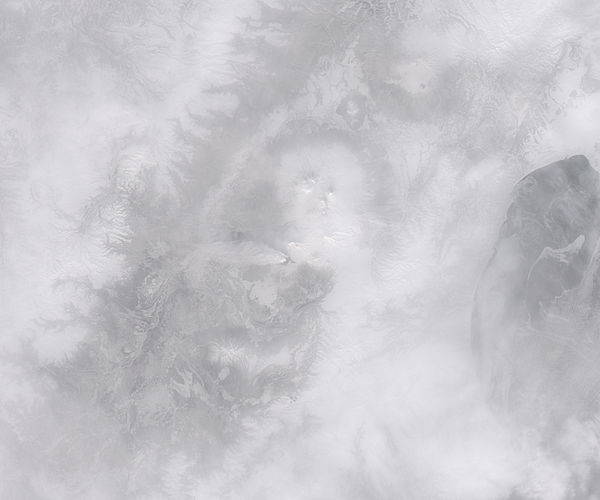 Plume from Plosky Tolbachik, Kamchatka Peninsula, eastern Russia (afternoon overpass, true color) - related image preview