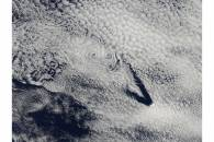Cloud vortices off Saint Helena Island, south Atlantic Ocean