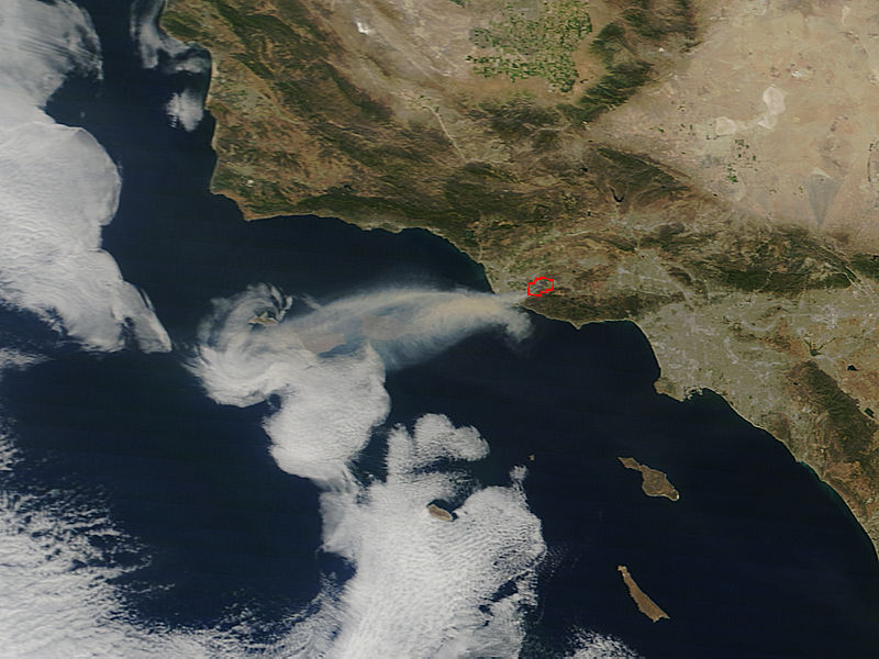 Springs Fire near Los Angeles, California - related image preview