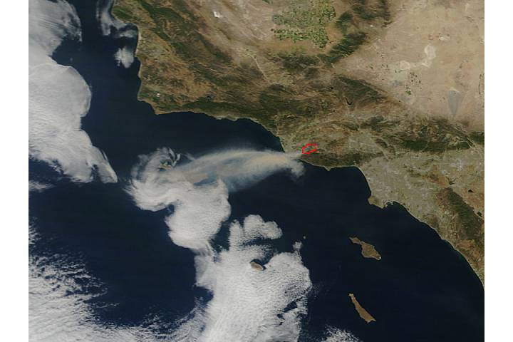 Springs Fire near Los Angeles, California - selected image
