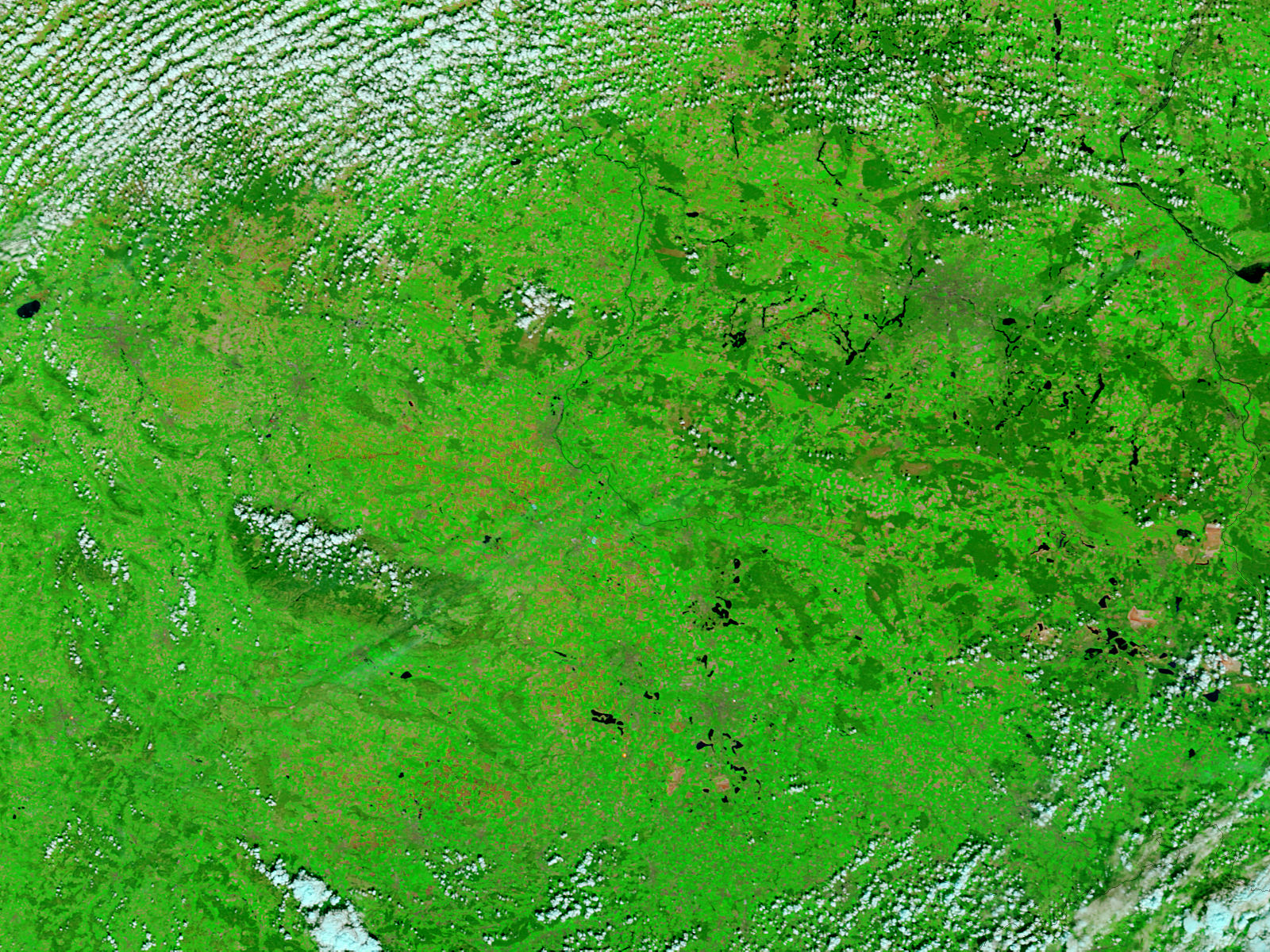 Central Germany (before floods, false color) - related image preview