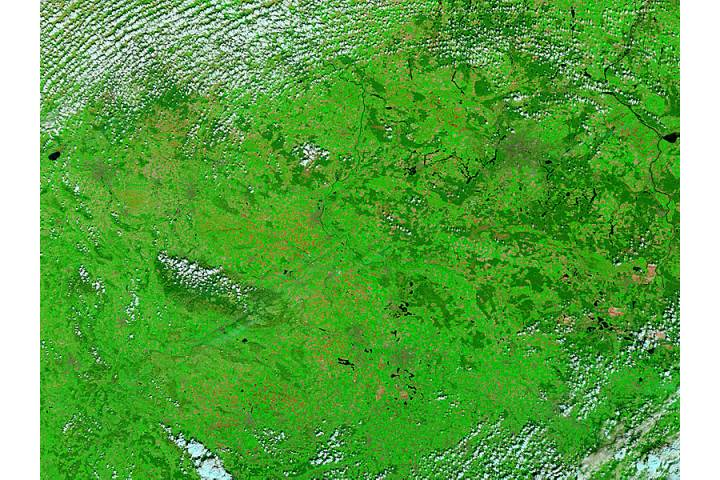 Central Germany (before floods, false color) - selected image