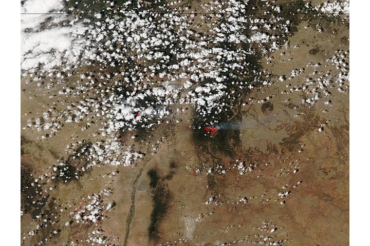 Thompson Ridge and Tres Lagunas Fires, New Mexico - selected image
