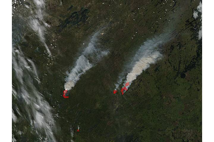 Fires in northern Saskatchewan - selected image