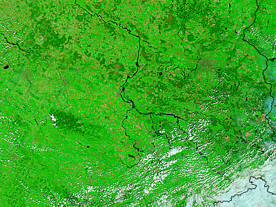 Floods in central Germany (false color) - related image preview