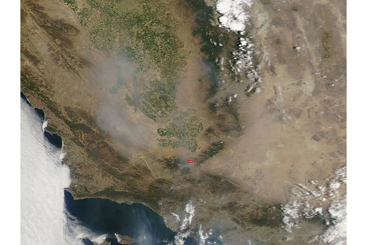 Fires and smoke in southern California - selected image