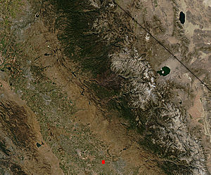Burn scar from the Rim Fire, California (true color) - related image preview