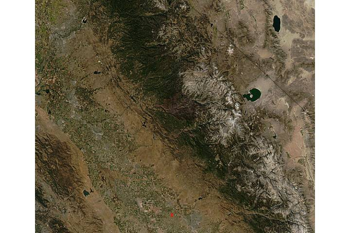Burn scar from the Rim Fire, California (true color) - selected image