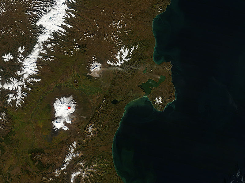 Activity at Shiveluch and Kliuchevskoi, Kamchatka Peninsula, eastern Russia - related image preview