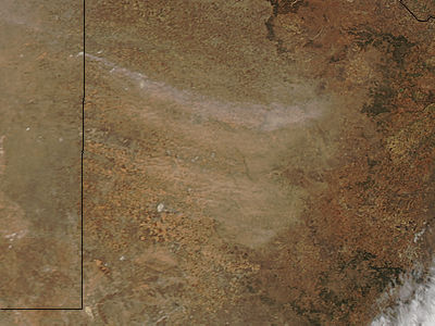 Dust storm in the Texas panhandle (afternoon overpass) - related image preview