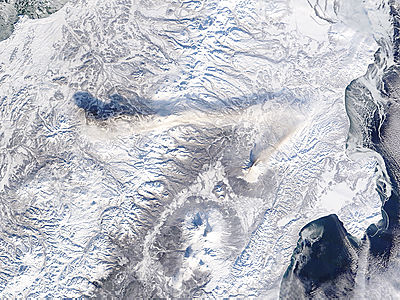 Ash plume from Shiveluch, Kamchatka Peninsula, eastern Russia - related image preview