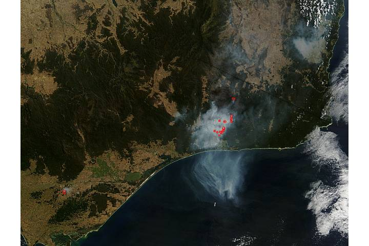 Fires in southeast Australia - selected image