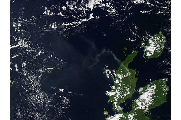 Plume from Dukono, Halmahera, Indonesia - selected image