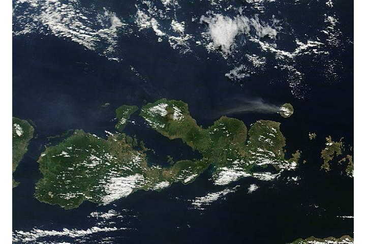 Plume from Sangeang Api, Lesser Sunda Islands, Indonesia - selected image