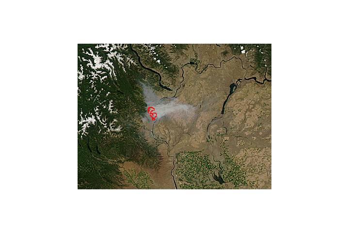 Mills Canyon Fire, Washington - selected image