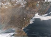 Fires on Korean Peninsula