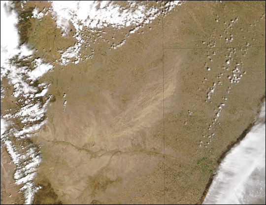 Dust Storm over Colorado and Kansas