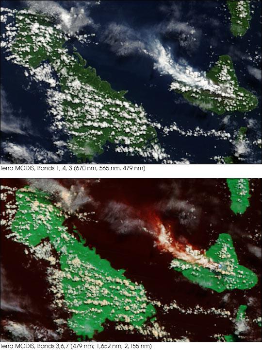 Ambrym Volcano Ash Plume