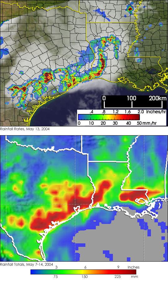 Strong Storms Dump Heavy Rains on Texas and Louisiana