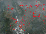 Fires in South-Central Russia