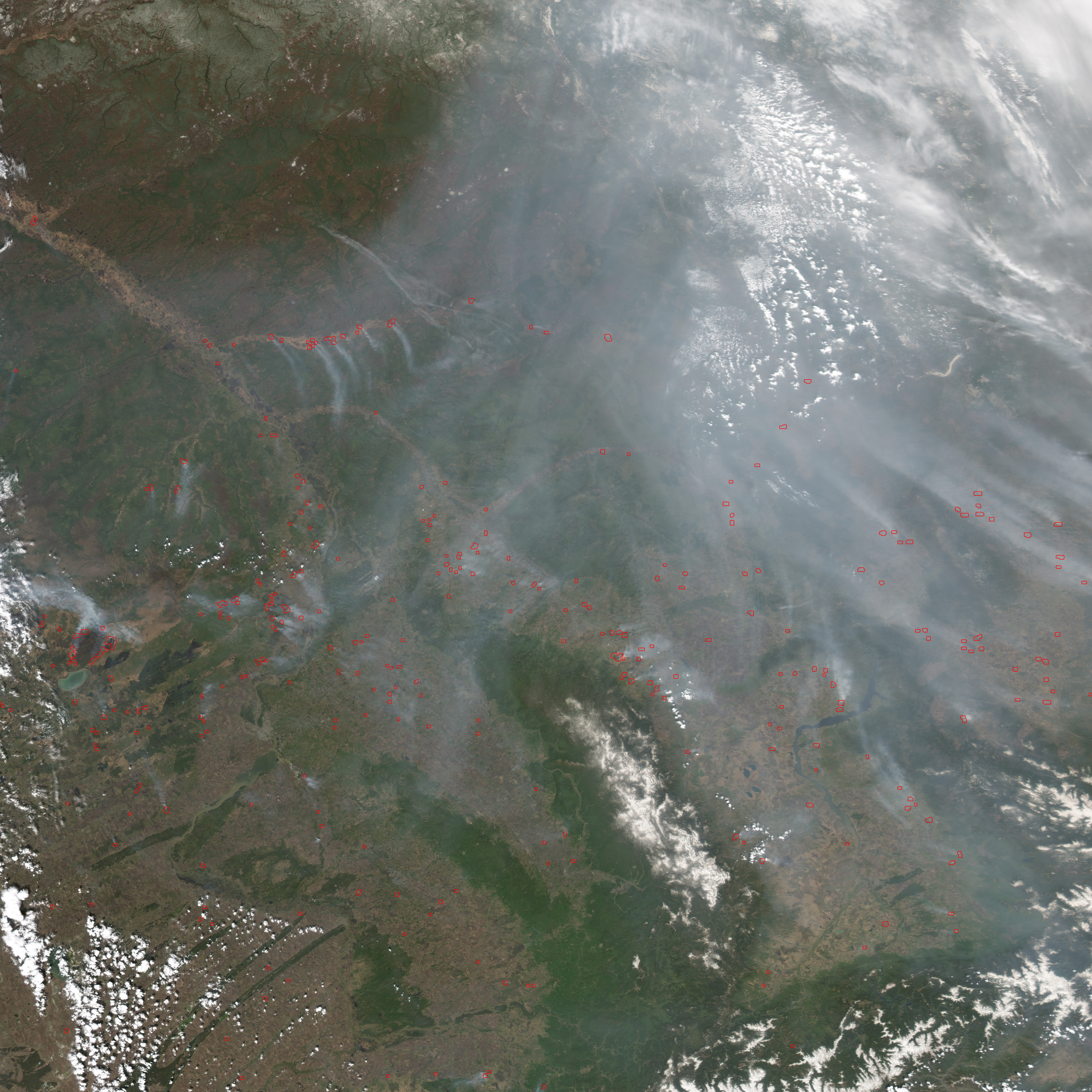 Fires in South-Central Russia - related image preview