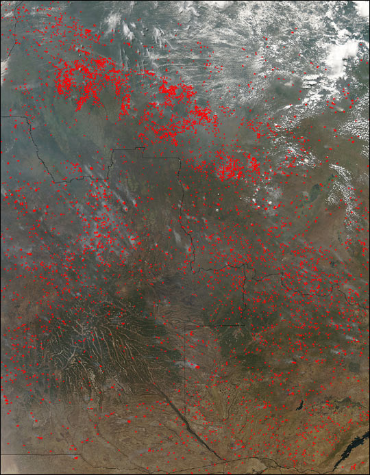 Fires in Southern Africa