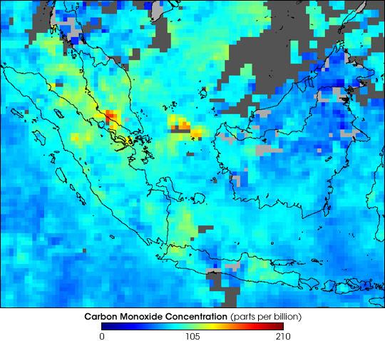 Fires in Sumatra
