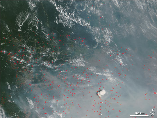 Fires Near Xingu River