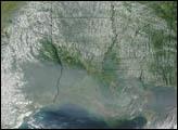 Smoke from Alaskan Fires over Louisiana - selected image