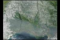 Smoke from Alaskan Fires over Louisiana