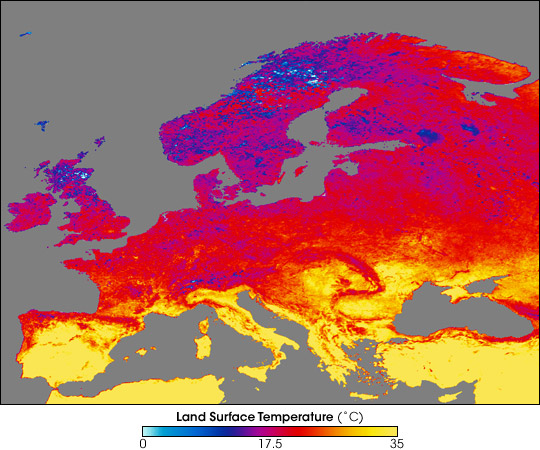 Heatwaves and Cold Weather Across Europe