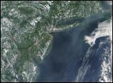 Smoke from Alaska Fires off U.S. East Coast