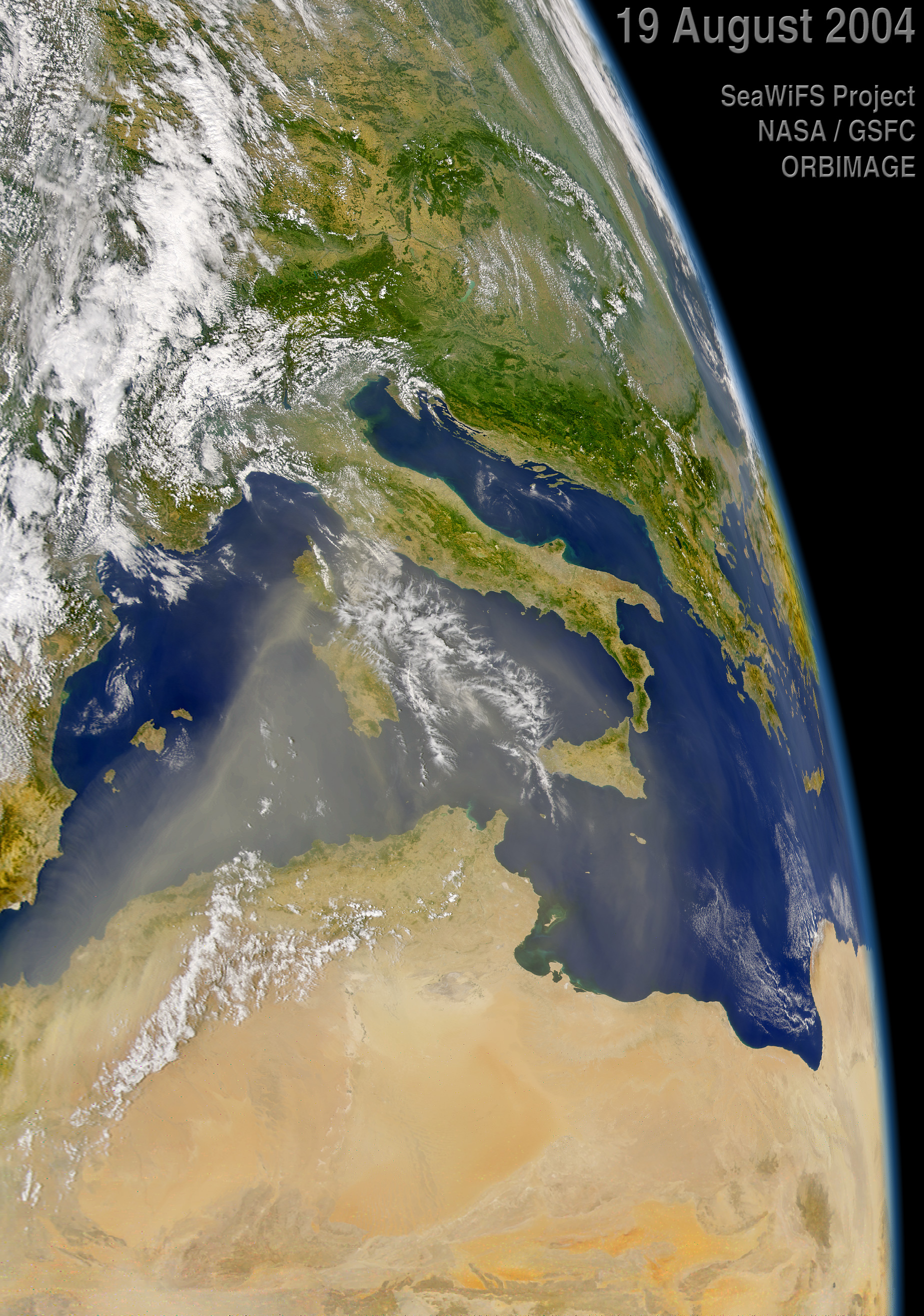 African Dust over the Mediterranean - related image preview