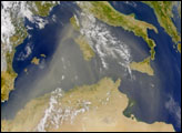 African Dust over the Mediterranean