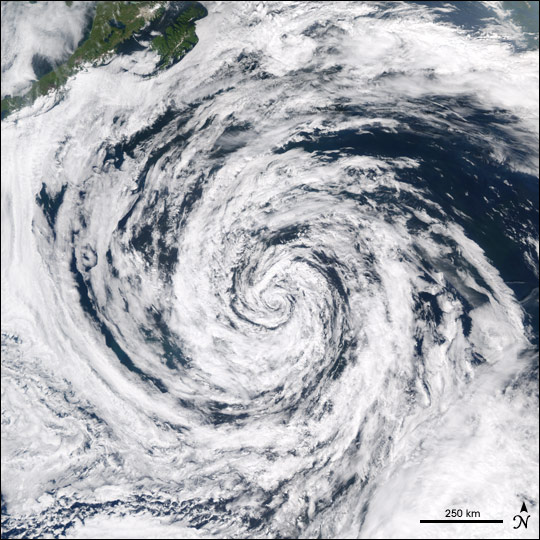 Low Pressure System in the Gulf of Alaska
