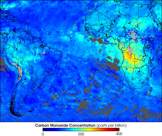 Carbon Monoxide from Tropical Fires