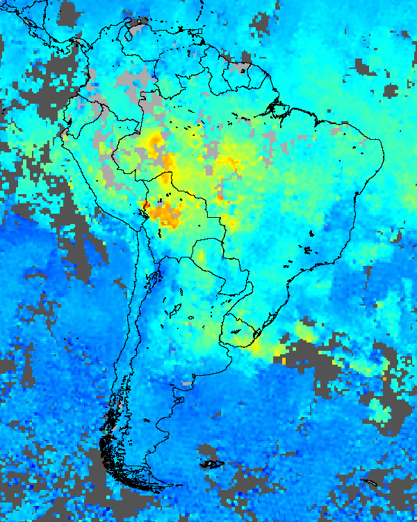 Carbon Monoxide over South America - related image preview