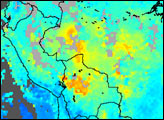 Carbon Monoxide over South America - selected image
