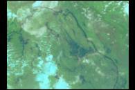 Flooding on the Mekong River