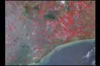 Fires Near Lake Malawi, Africa