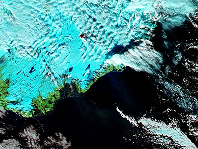 Eruption at Bardarbunga, Iceland (false color) - related image preview